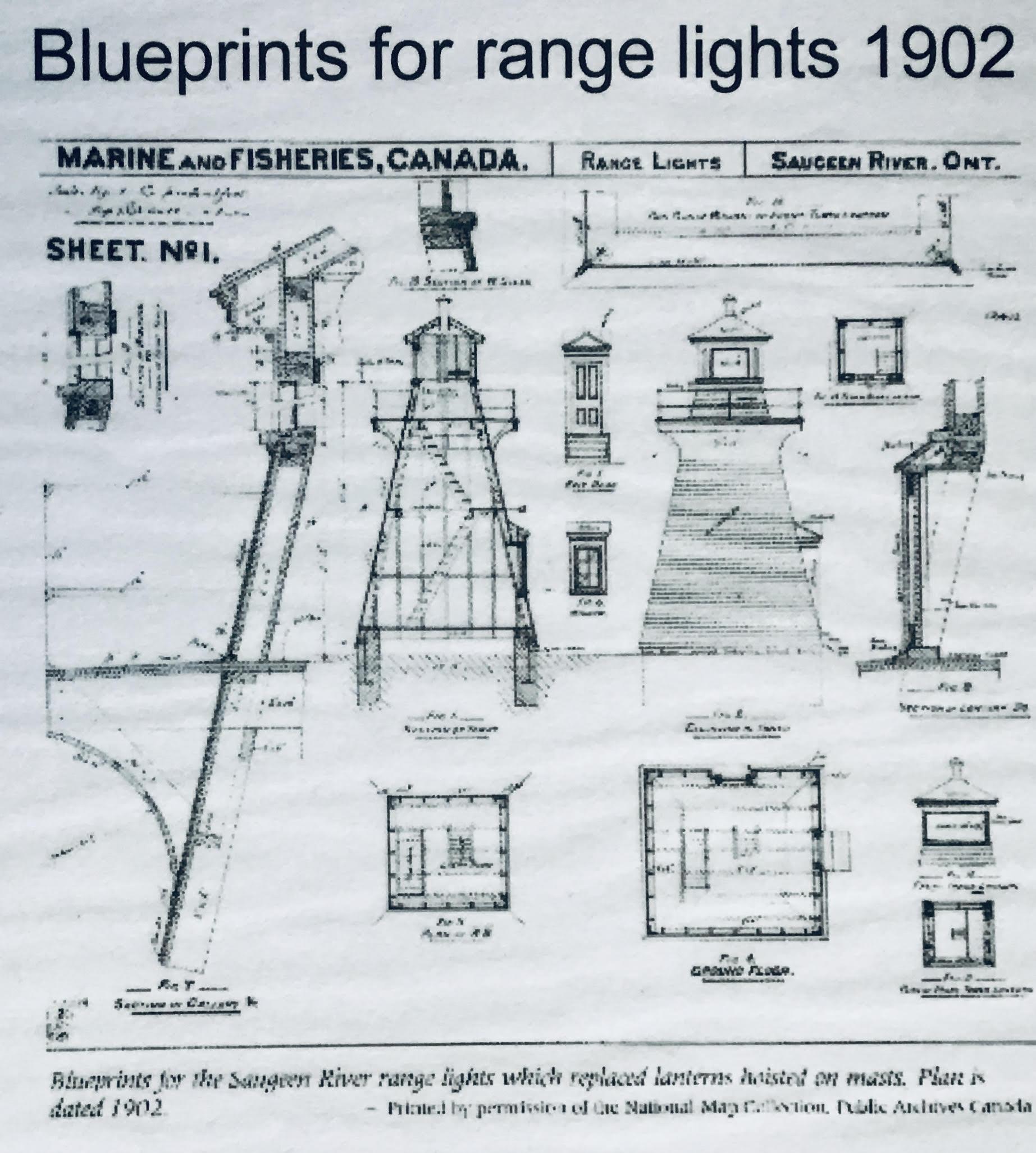 Blueprints for range lights 1902